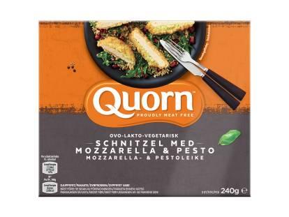 Quorn Ovo-Lakto-Vegetarisk Schnitzel med Mozzarella & Pesto