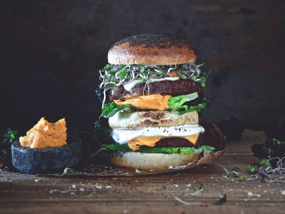 Vegan Gourmet Cheese Burger