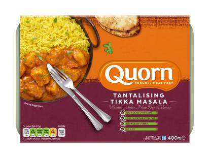 meat free quorn tikka masala frozen ready meal