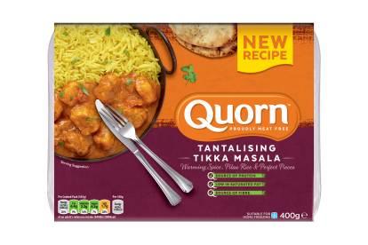meat free quorn tikka masala frozen ready meal
