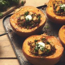 Quorn Meatless Chicken & Quinoa Stuffed Pumpkin