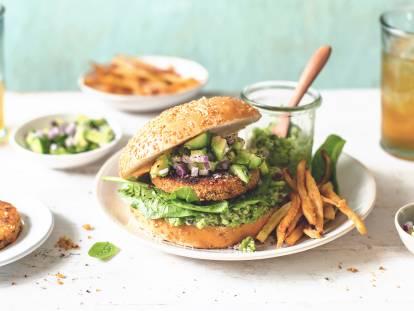 Hamburgers de Quorn printaniers