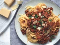 Spaghetti Bolognese mit vegetarischem Quorn Gehacktem