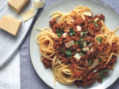 Spaghetti Bolognaise met Quorn Vegetarisch Fijngehakt
