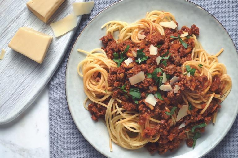 Spaghetti bolognaise au haché végétarien Quorn