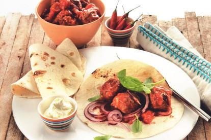 quorn swedish style meatball & tomato wrap quick vegetarian recipe