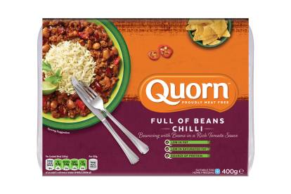 meat free quorn full of beans chilli ready meal