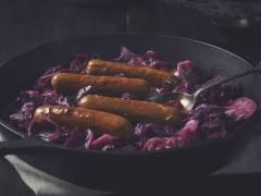 Cavolo rosso brasato con Salsicce Quorn