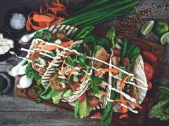 Vegan Breaded Fish Tacos