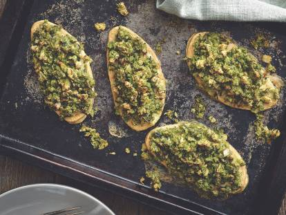 quorn fillets with crunchy herb topping vegetarian recipe