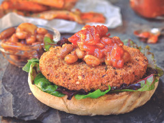 Quorn Vegan Hot & Spicy Burger with BBQ Beans