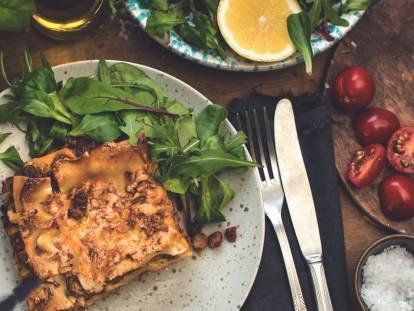 Superenkel vego-lasagne med Quorn