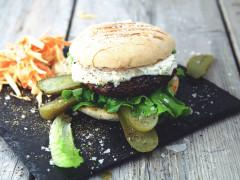 Nickes Backyard Burger - Vegetarisk (lakto ovo) hamburgare med Quorn