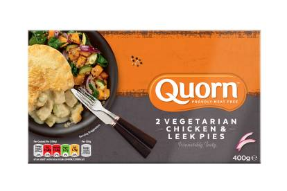 quorn frozen vegetarian chicken & leek pie