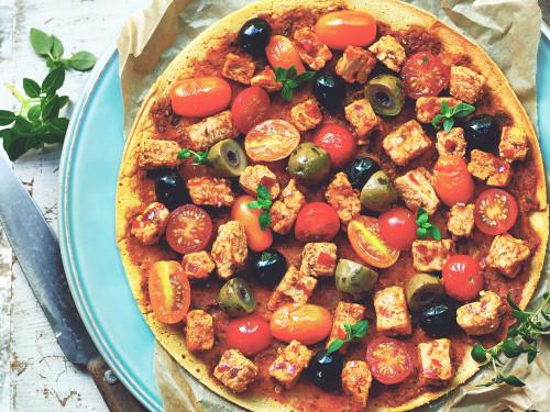 Quorn Meat Free Vegan Pieces Mediterranean Socca