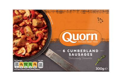 frozen meat free cumberland quorn sausage