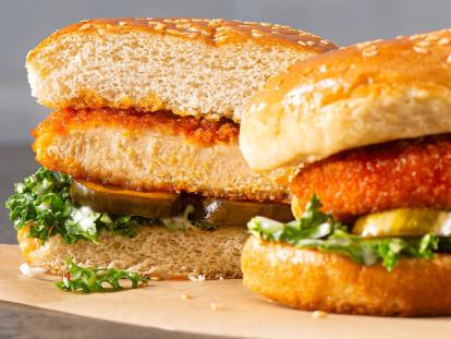 Air Fryer Nashville Hot and Spicy Sandwich
