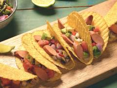 Quorn Hot Dog Tacos