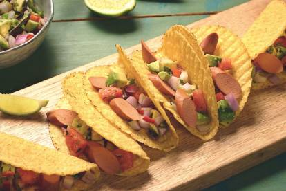 quorn hot dog tacos vegetarian recipe