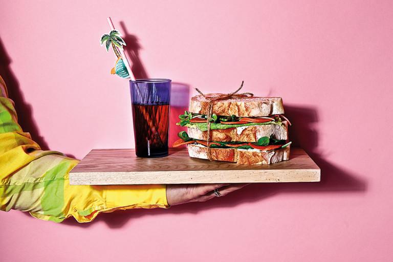 Quorn, vegansk, picknickmacka, vegansk pepperoni.