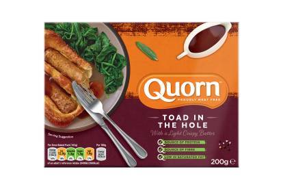 frozen quorn meat free sausages toad in the hole ready meal