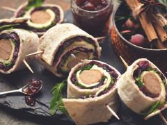 Quorn Sausage Wraps
