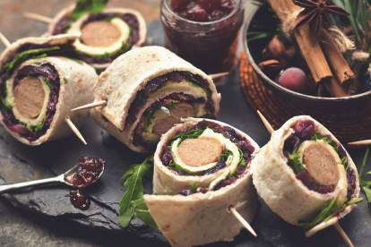 quorn sausage wraps quick vegetarian recipe