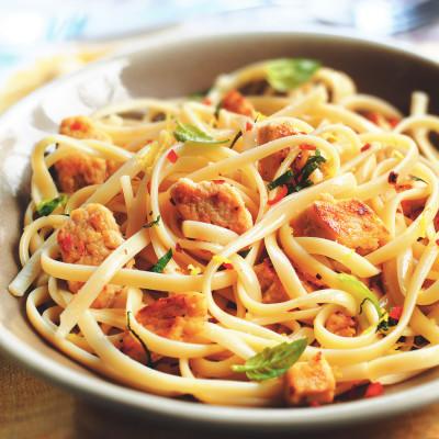 Lemon & Chilli Quorn Pieces Linguine Recipe
