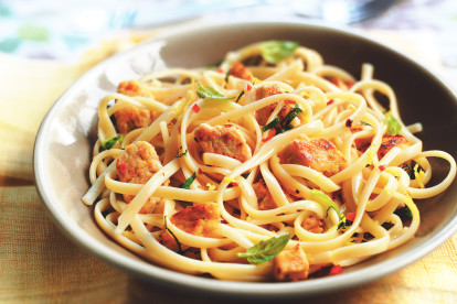 Lemon and Chili Quorn Pieces Linguine