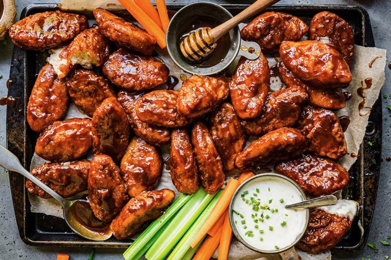 Vegetarian Quorn Honey BBQ ChiQin Wings