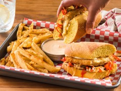Philly-Style Meatless Sharp Cheese Cutlet Hoagie