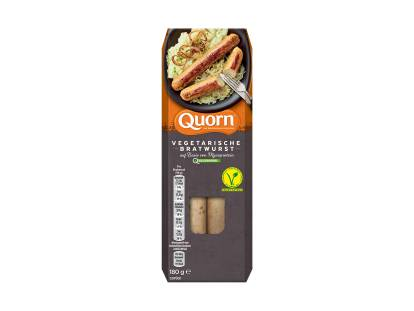 meat free quorn bratwursts sausages