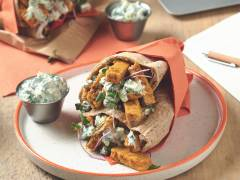Quorn Tikka Pitta Bread with Raita