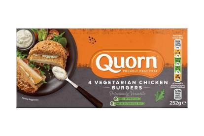 frozen quorn vegetarian chicken burgers