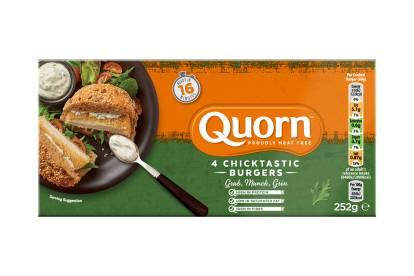 frozen Quorn Chicktastic Burgers