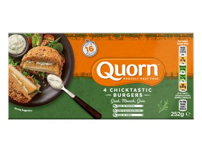 frozen quorn vegetarian chicken burgers