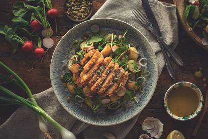 Quorn Chicken Style Burgare & somrig potatissallad