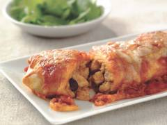 quorn pieces & bean enchiladas vegetarian recipe