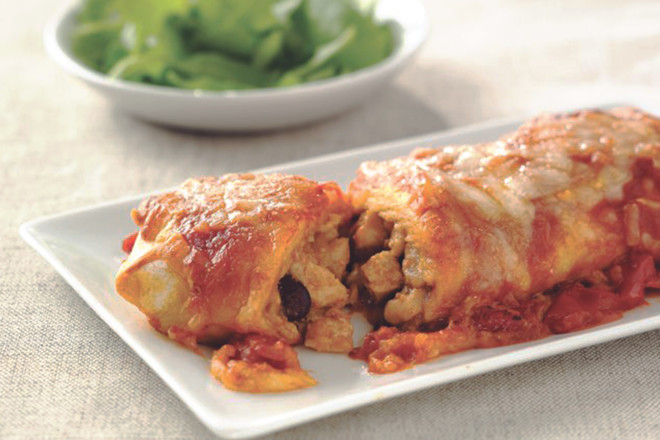Quorn Meat Free Pieces & Bean Enchiladas