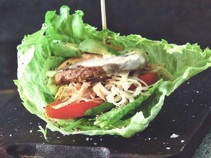 Vegetarisk low carb burgare