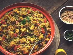 hyderabadi biryani with quorn pieces indian recipe