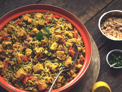 Hyderabadi Biryani with Quorn Meat Free Pieces