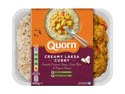 meat free quorn creamy laksa curry ready meal