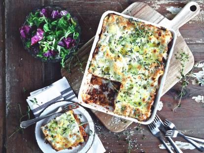 quick & easy one potlasagne vegetarian recipe