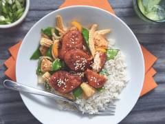 sticky sweet & sour quorn nuggets vegetarian recipe