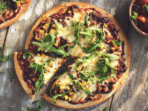 BBQ-pizza medQuorn-farse