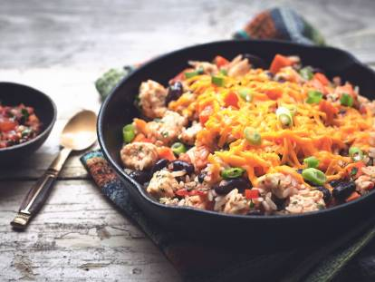 One-Pot Southwest Skillet with Quorn Meatless Pieces