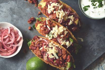 healthy homemade vegetarian chipotle tacos recipe