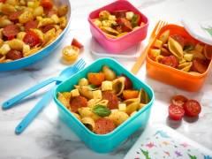 sunny quorn sausage pasta pots vegetarian recipe