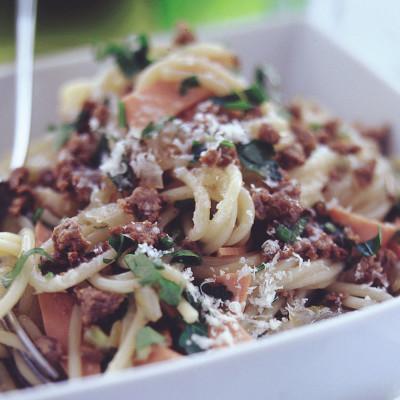 Quorn Meat Free Mince Spaghetti Carbonara